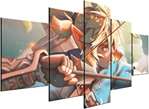 XIAOAGIAO 5 Canvas Painting Modular Hd Prints Pictures Home Decoration 5 Pieces Legend Of Zelda Paintings Game Canvas Poster Wall Art For Living Room Frame Paintings on Canvas