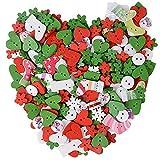 80g 200pcs Botones Madera Navidad Infantiles con Agujeros Costura Manualidades DIY Scrapbooking Bricolaje Artesanía Decoración Forma Corazón Nieve Flores