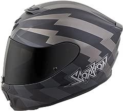 Scorpion EXO-R420 Full-Face Tracker Street Motorcycle Helmet - Titanium/Black/Large