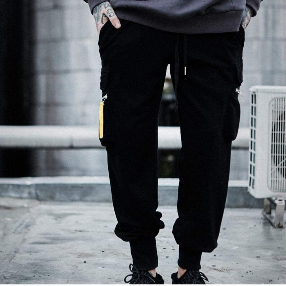 Meaeo Ins Automne Et Hiver Marque De Marée Hip Hop Sauvage Taille Élastique Poutre De Pied Poches Outillage Pantalon Décontracté Sport Pantalon pour Homme Fd