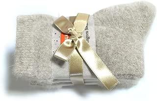 Walkon Women's 3 Pairs Winter Angora Warm Casual Thick Thermal Crew Socks (8Colors)