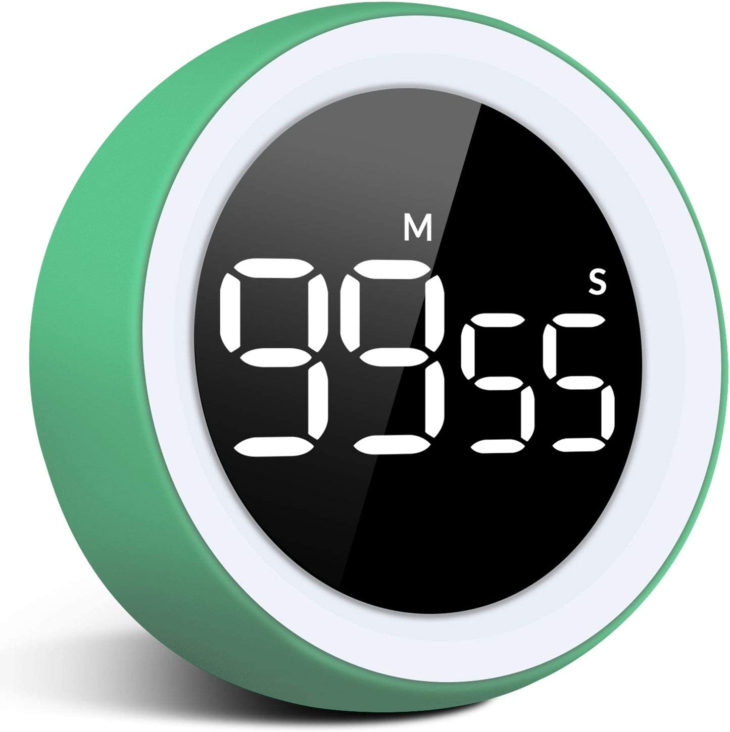 Amazon Com Digital Kitchen Timer Led Digital Countdown Timer Loud Alarm With Dual Volum 99 Minute 55 Second Visual Analog Timer For Teacher Kids Autism And Elderly For Home Work Fitness Include Batteries Kitchen