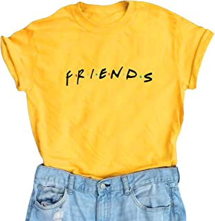 7c421742 LOOKFACE Women Friends TV Show Graphic Funny Cute T Shirts Cotton Tops