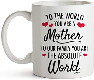 Mom Gifts | Christmas Gifts for Mom from Daughter | Birthday Gift for Mom | Presents for Parents | Funny Coffee Mug for Mother (1, Mother World)