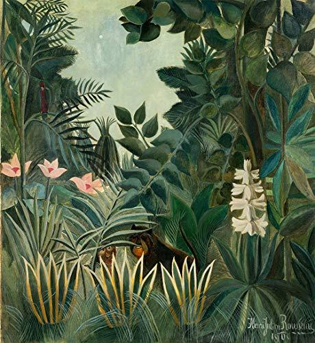 Paysage exotique II par Henri Julien Rousseau. 100% peint à la main. Reproduction de haute qualité. Livraison gratuite (non encadrée et non étirée). Taille de la peinture: 36x39\
