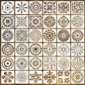 36-Pieces Jynhoor Mandala Drawing Stencils (3.6X3.6 inch)