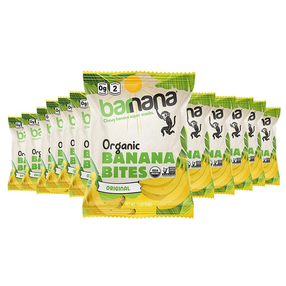 Organic Chewy Sale Special Price Banana Bites Original 1.4 Flavor Ounce 12 Gifts Bags