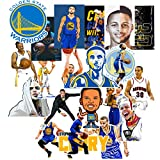 GTOTd Curry Stickers (20-Pcs) Basketball Gifts Toys Superstar Curry Stickers Decals Stephen Curry Poster for Laptop,Cars, Gift,Figure Collection