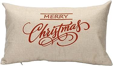 Nstcher Christmas Pillow Sofa Waist Throw Cushion Cover Home Decor B