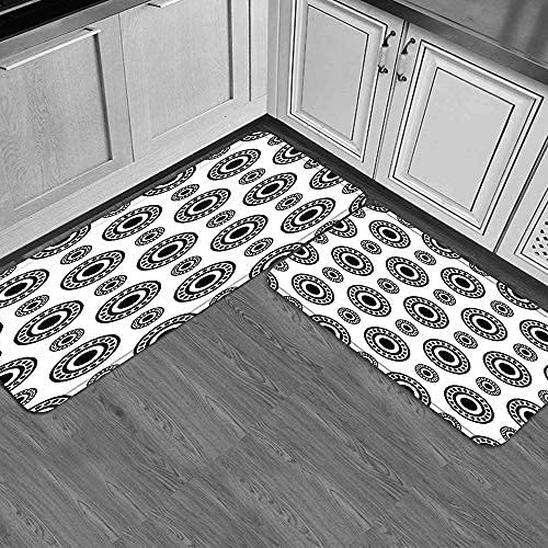 Kitchen Al sold out. Floor Mat Superior Set 2pcs Icon Non-Slip Cushioned Bearing Door