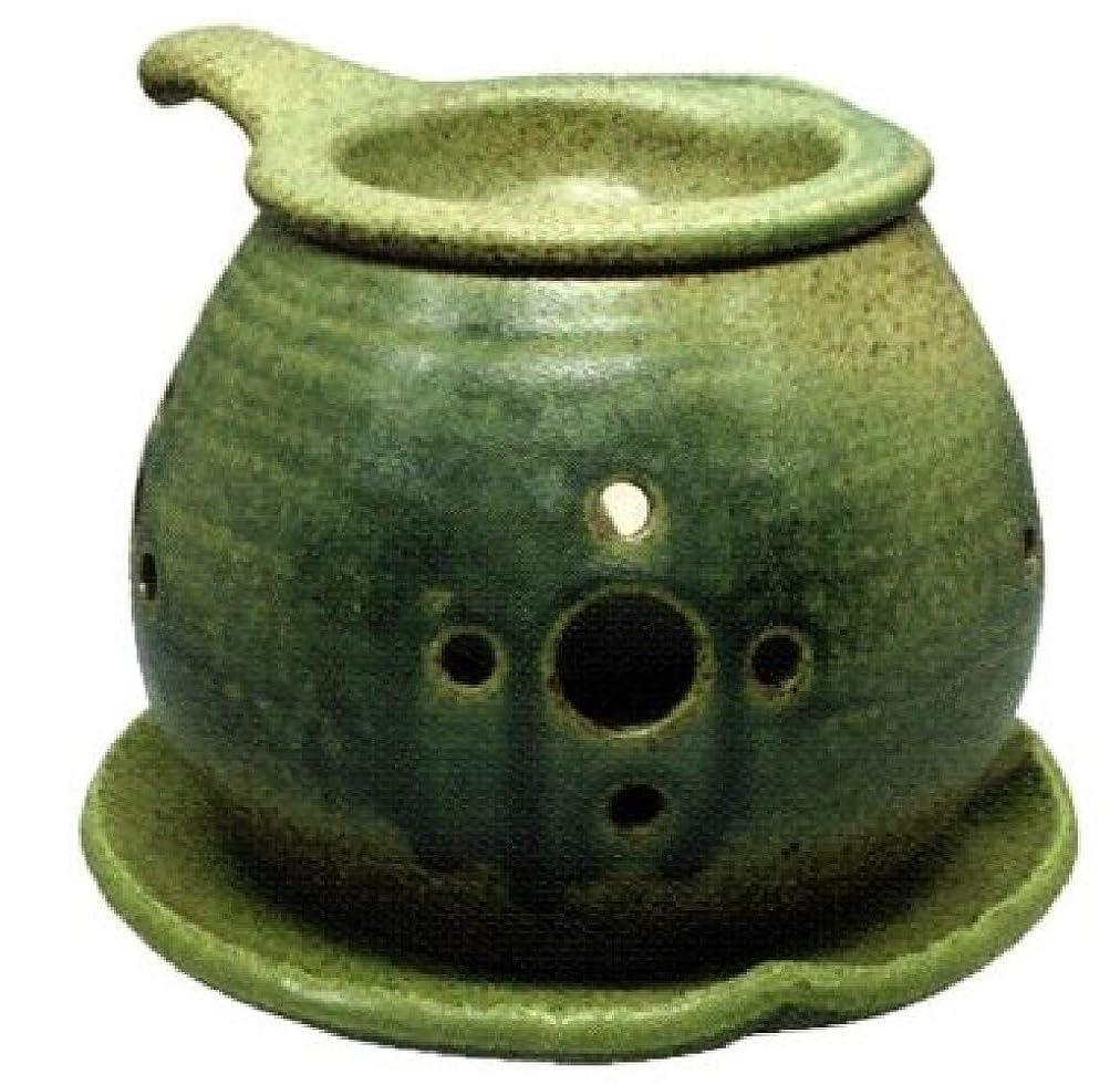 ランデブーニコチンなす常滑焼?間宮 カ40-02 茶香炉 約φ14×10cm
