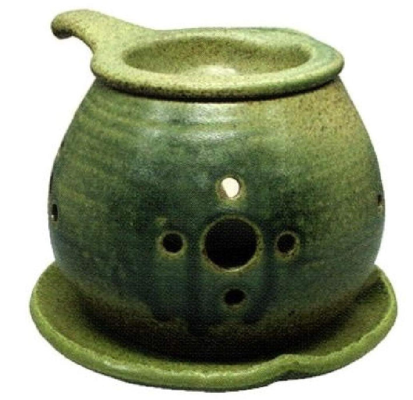 植生エリート曲げる常滑焼?間宮 カ40-02 茶香炉 約φ14×10cm