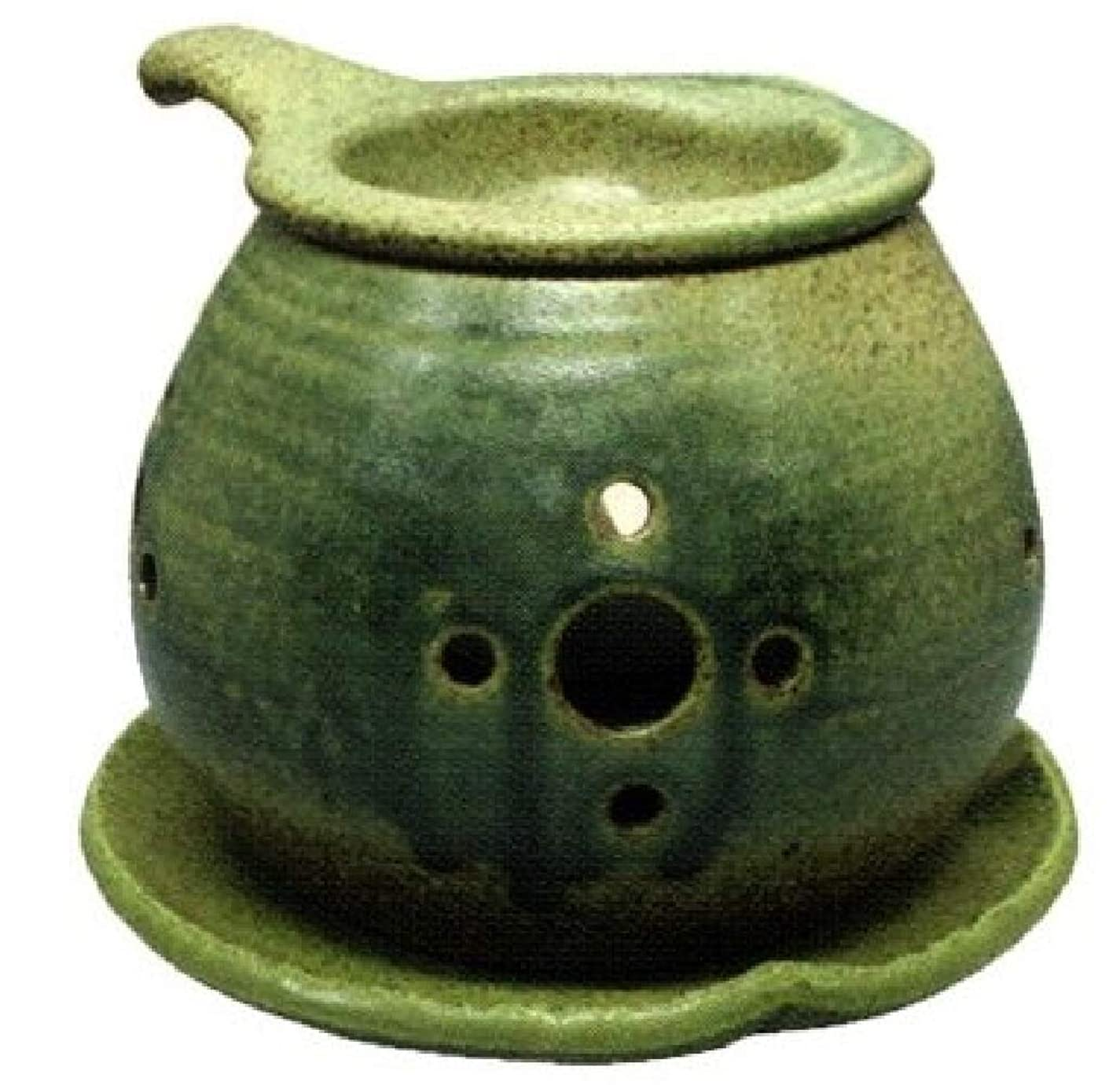 矢印注意残り常滑焼?間宮 カ40-02 茶香炉 約φ14×10cm