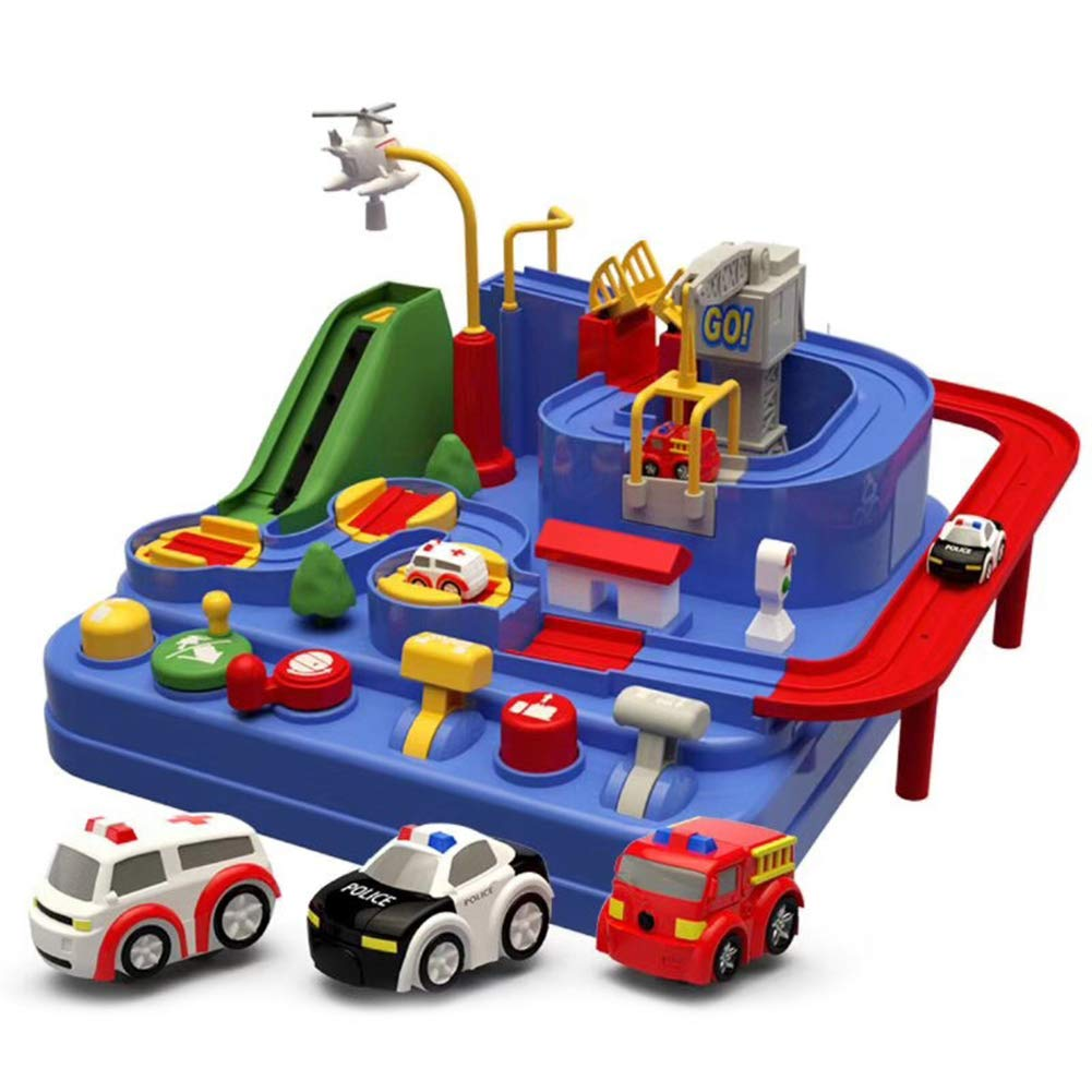 Tawcal Toy Garage Play Set,Parking lot Toys for Kids,Parking Garage Ramp &  Service Station Playset with Elevator,Puzzle Parking Toy Boy and Girl  Birthday (Blue)- Buy Online in Kuwait at desertcart.com.kw. ProductId :