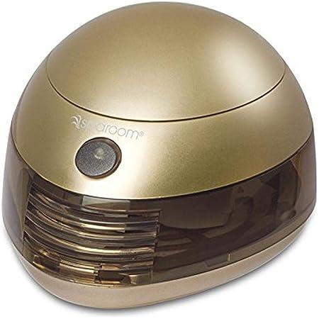 6353 SpaRoom Aromafier Metallic Portable Essential Oil Diffuser Portable USB or Batteries (Gold)