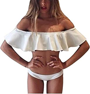 Best white off the shoulder bikini Reviews