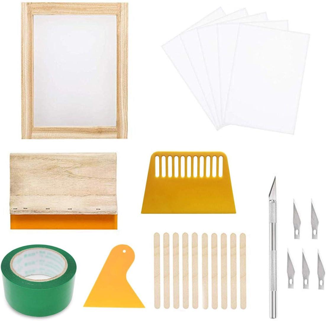 Screen Printing Cheap mail order shopping Set Silk Frame Sil DIY Regular dealer Reusable Kit 21Pcs
