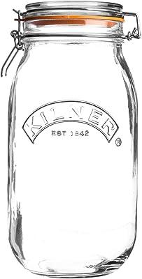 Kilner Round Clip Top Jar, 2L, Transparent 01640
