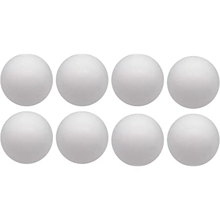Fityle 10Pcs Unfinished Round Solid Polystyrene Styrofoam Foam Ball for DIY Flower Balls Wedding Crafts 150mm