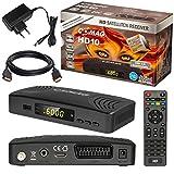 Satelliten DVB-S/S2 SAT Receiver + HDMI Kabel mit Ethernet...