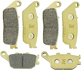 ZZOY Semi-Metallic Front /& Rear Brake Pads for KAWASAKI KLE 650 A7F//A8F//A9F//CAF//CBF Versys 2007-2013