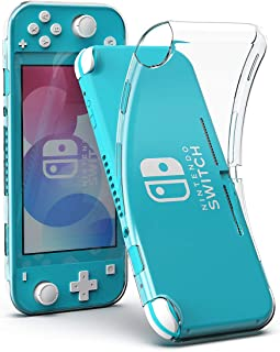 Nintendo Switch lite 用 ケース Maxku ニンテンドースイッチ 用 カバー 透明 シリコンケース ソフトカバー 極薄 超軽量 耐衝撃 傷つけ防止 着脱簡単 保護バンパー 弾力性付き(クリア)