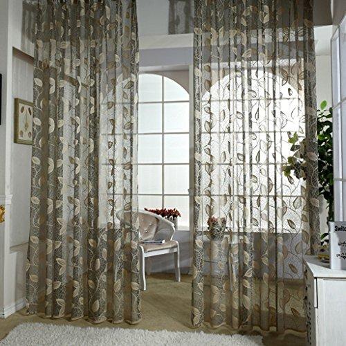 Met Love Feuilles haut de gamme Translucide Fenêtre Screening Salon Chambre Étude Balcon Dedicated Bay Window 2 Panneaux (taille : L:3.0*H:2.7m)