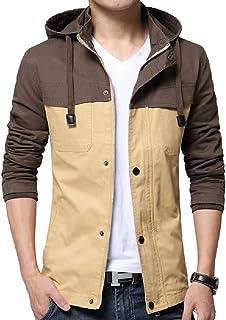 Mogogo Mens Twill Combat Spell Color Multi-Pockets Venture Jacket