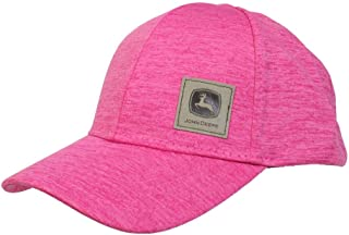 John Deere Toddler Kids Space Dye Patch Cap-Medium Pink-Os