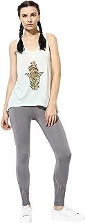 Spiritual Warrior Aisha Leggings Poly Elastane and Lace (Stone Grey)