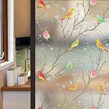 غشاء نافذة الخصوصية من Coavas غير لاصق غير شفاف لنافذة الطيور فيلم الديكور زجاج فيلم ثابت ملصق الطيور نافذة ملصقات ل GF-WF...