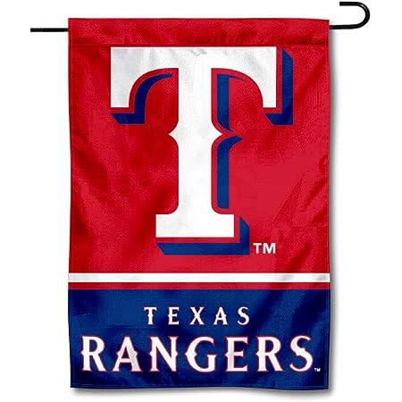 Amazon Com Wincraft Texas Rangers Double Sided Garden Flag Garden Outdoor