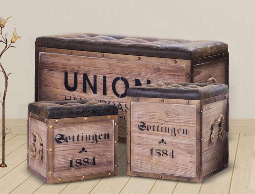 boîte de rangement Sitztonne vintage Coussin Tabouret Coloré Tabouret avec espace de rangement