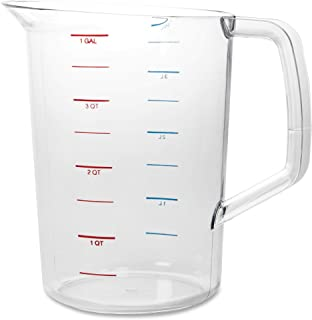 Rubbermaid Commercial Products Bouncer Measuring Cup, 4-Quart, Clear, FG321800CLR