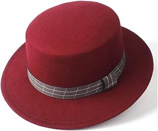 2019 Mens Womens Hats Unisex 2019 Men Women Flat Top Hat Casual Por Pie Trilby Church Hat Wide Brim Jazz Hat Lady Fascinator Casual Wild Hat Outdoor Travel