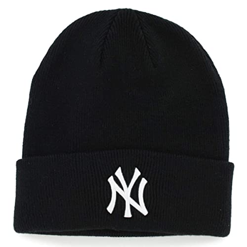 ea519582cafc0 Amazon.com    47 New York Yankees Black Beanie Hat - MLB NY Cuffed Winter  Knit Cap   Sports Fan Beanies   Sports   Outdoors.
