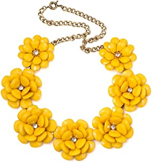 Corykeyes Colorful Flower Bib Bubble Chunky Statement Necklace