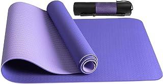 JOJOBNJ Tapis de Yoga,Tapis yoga antidérapant Epais et Durable en TPE matériaux,180x60x0.6cm,Avec Sac de Yoga,Pour Gym,Fit...