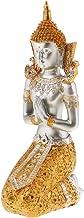 Baosity Thailand Buddha Kneeling Ornament Figure Statue Meditation Figurine Ornaments