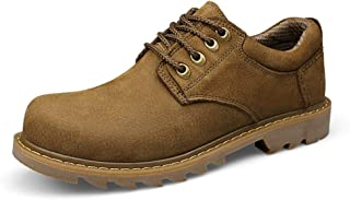 AMAZACER Men's Fashion Boots Casual Classical Workwear Trend Low Top Prosperous Big Size Formal Shoes (Color : Khaki, Size : 6.5 UK) (Color : Khaki, Size : 8.5 UK)