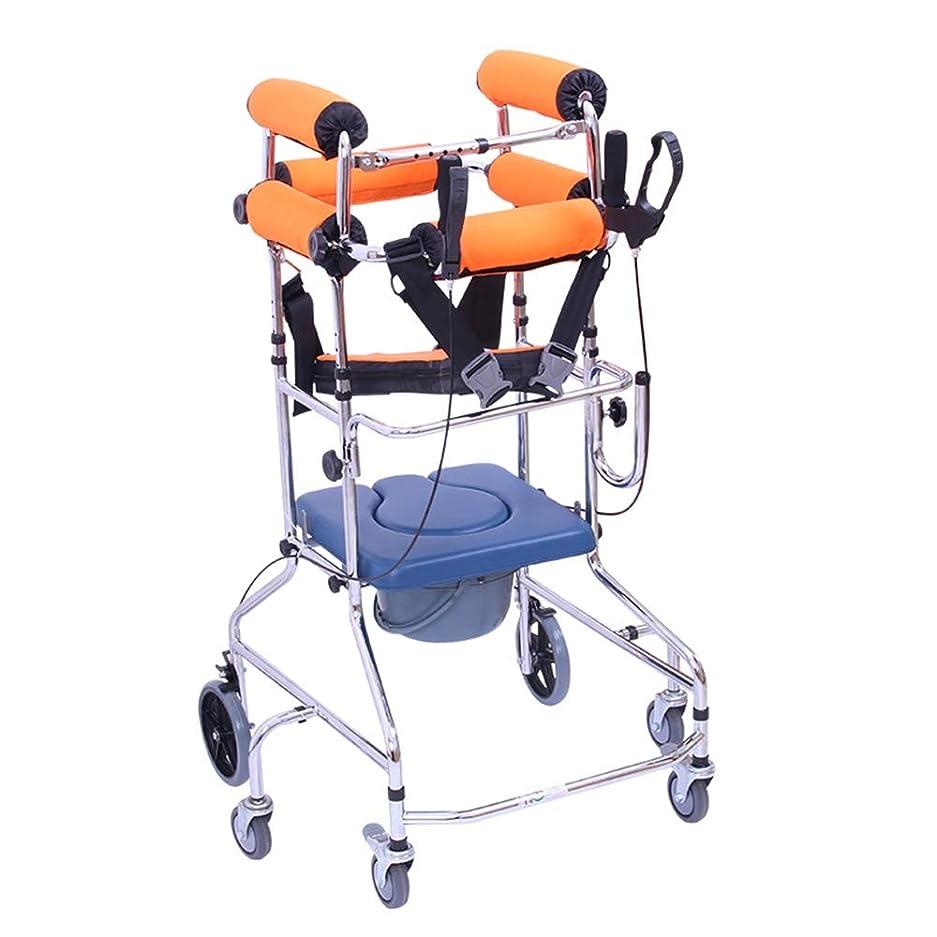 迷彩悪化させる補助下肢歩行用フレーム付き便座、成人用歩行フレーム歩行器高齢者歩行器トレーニング機器