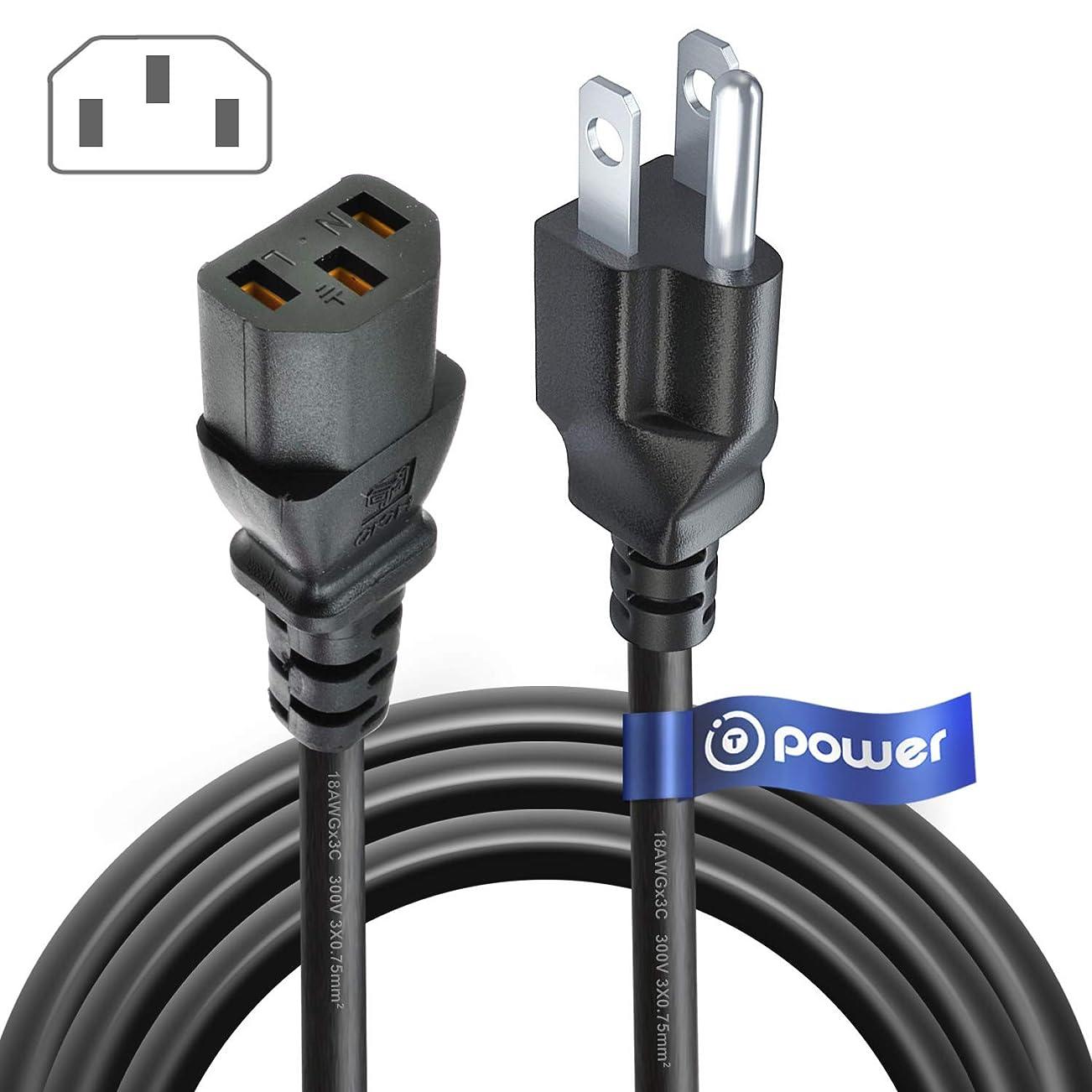 ひどく上昇シロナガスクジラt-power 4?ft 3-prong AC電源ケーブルコードfor SyncMasterシリーズLCDモニタパーツ# bh39?–?10339e、18?AWGスマートHDTVモニタ電源供給ケーブルコード