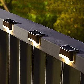 AMERTEER Solar Deck Lights Outdoor 12 Pack, Solar Step Lights Waterproof Led Solar Lights for Outdoor Stairs, Step, Fence,...