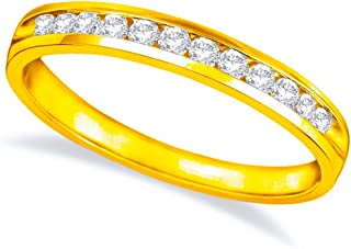 1/2 Carat (ctw) 14K White Gold Round Diamond Ladies Channel Set Half-Way Semi-Eternity Wedding Anniversary Stackable Ring Band Luxury Collection (D-E Color VS1-VS2 Clarity)