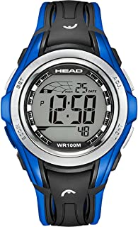 HEAD Unisex-Adult Quartz Watch, Digital Display and Rubber Strap