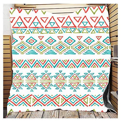 FUFU Mantas y mantitas 100% algodón Acolchado Lanzamiento Lanza Decorativo Manta súper Suave Colcha Impresa 3D for sofá y sofá para Todas Las Estaciones (Color : 10F, Size : 226x280cm/90 x110)