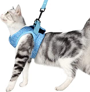 Yult Cat Harness and Leash Set Ultra-Light Kitten Collar Soft and Comfortable Cat Walking Jacket with Running Cushioning a...