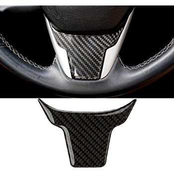 Senzeal Carbon Fiber Steering Wheel Cover Panel Frame Trim Fit for Honda 10th Gen Civic Si 2016 2017 2018 2019