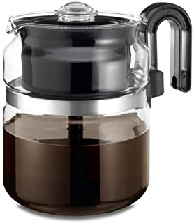 Stovetop Percolator Coffee Pot, Glass, 8 cup (40 oz) …
