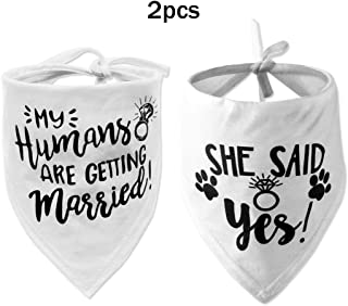 My Humans are Getting Married Dog Bandana, She Said Yes Dog Bandana, Wedding Dog Bandana, Dog Engagement Announcement, Wedding Photo Prop, Pet Scarf, Pet Accessories